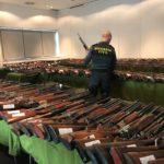 La Guàrdia Civil de Tarragona, subhasta aquest mes de març un total de 713 armes