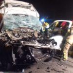 Mor el conductor d'una furgoneta arran d'una topada amb un camió a l'AP-7, a Tarragona