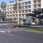 S'inicien els treballs de pintura horitzontal als carrers de Salou