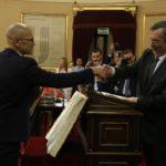 Manuel Cruz, el nou president del Senat, s'estrena a Tarragona amb una conferència sobre el diàleg