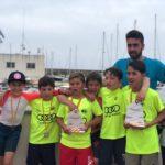 L'equip d'Optimist de G3 de Cambrils s'endú el pòdium complet del Campionat de Catalunya