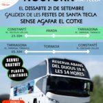 Constantí ofereix un servei de bus nocturn especial per les festes de Santa Tecla