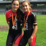 Or i plata en patinatge de velocitat als Campionats d'Espanya de Circuit