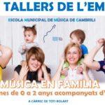 L'Escola Municipal de Música de Cambrils programa nous tallers de música en família