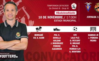 El Nàstic convoca als jugadors per l'encontre amb el CF Badalona