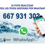 WhatsApp, el nou canal d'atenció a l'usuari d'Aigües d'Altafulla