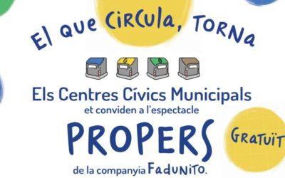 Els centres cívics municipals presenten l'espectacle d'humor familiar 'Propers'