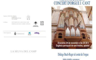 La Selva del Camp acull un concert de cant i orgue per la Festa Major de Sant Andreu