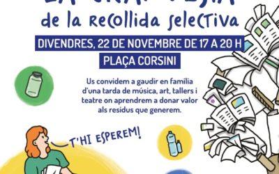 Demà, festa de la recollida selectiva a la plaça Corsini