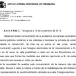 La Junta Electoral alerta els presidents de meses sobre un intent de boicot dels vots