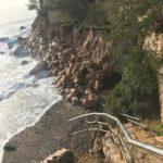 Mont-roig decreta la prohibició d'accedir a les cales i altres zones afectades pel temporal