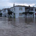 Creixell també s'ha vist afectat pel temporal deixant els carrers inundats