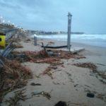 El temporal s'acarnissa amb el litoral i 'esborra' les platges