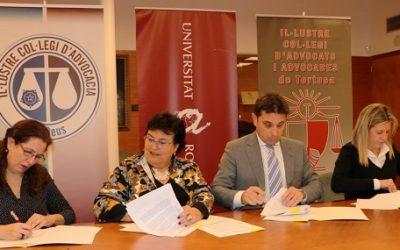 La URV i els col·legis d'advocats renoven la col·laboració per impartir el Màster en Advocacia
