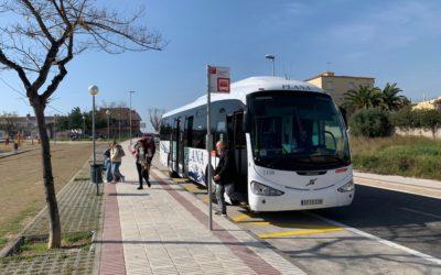 Entra en funcionament la nova parada al carrer Josep M. Segarra en substitució de la del carrer Major