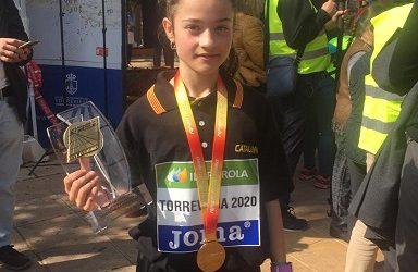 Júlia Suárez, del Club Atletisme Tarragona, és Campiona d'Espanya de Marxa en Ruta
