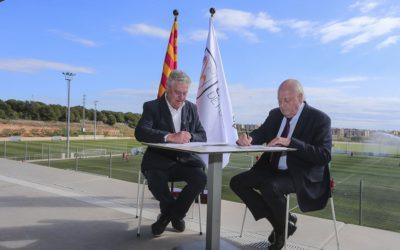 El Complex Futbol Salou amplia l'acord de col·laboració amb la Federació quatre anys més