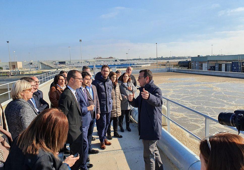 El conseller Calvet inaugura l'ampliació de la depuradora de Vila-seca i Salou