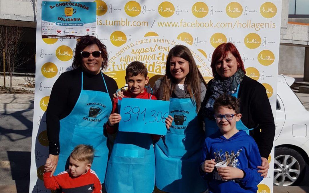 La xocolatada solidària del Morell recapta 400 euros contra el càncer infantil