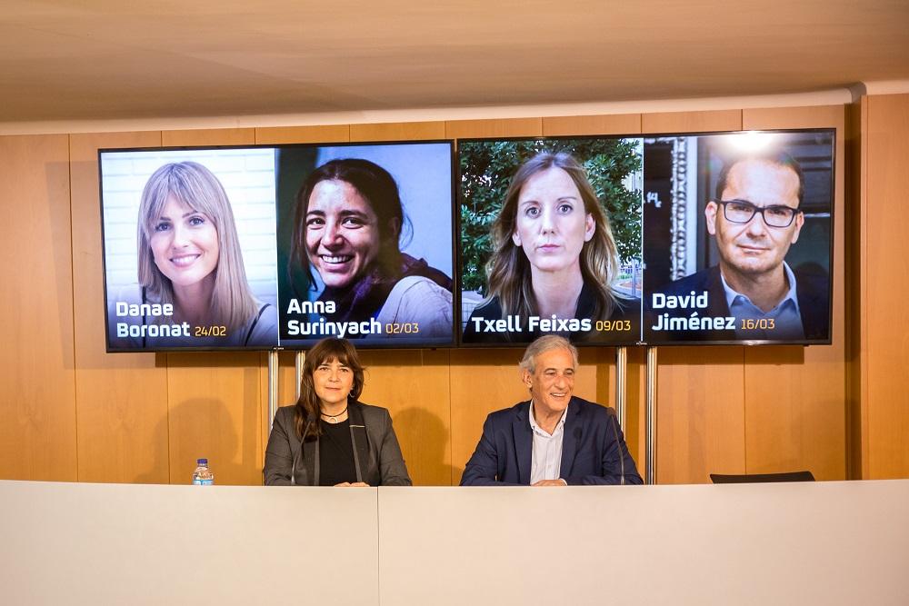La tarragonina Danae Boronat, Anna Surinyach, Txell Feixas i David Jiménez, al cicle 'Experiència de periodista'