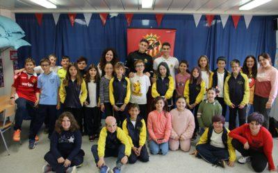 Pol Prats i Guiu visiten l'escola Marcel·lí Esquius de Miami Platja