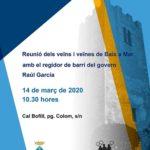 Reunió oberta a tot el veïnat de Baix a Mar el proper 14 de març