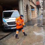 Tarragona i Roda de Berà desinfecten els carrers