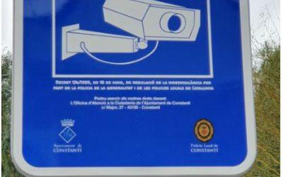 S'instal·len càmeres de videovigilància a Constantí