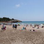 Afluència desigual a les platges de Tarragona en el primer cap de setmana en fase 2