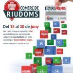 Riudoms reprendrà la campanya del comerç local 'Rasca Premis' del 15 al 30 de juny