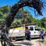 Detingut un home del Catllar per quinze robatoris amb força de cable telefònic al Tarragonès