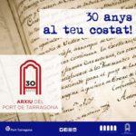 L'Arxiu del Port de Tarragona celebra els seus 30 anys d'història