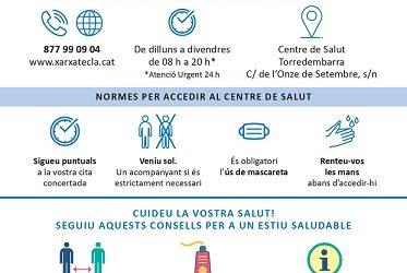 Altafulla edita cartells en quatre idiomes per reduir el risc de contagi per Covid-19