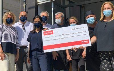 Els col·laboradors de BASF recapten 6000€ per al menjador social de Bonavista