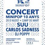 El Minipop organitza un concert especial d'aniversari el dijous 20 d'agost