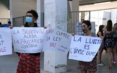 Treballadores de la URV denuncien la precarietat laboral del personal universitari