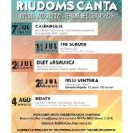 'Riudoms canta' ofereix cinc concerts a la fresca amb aforament limitat