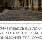 Creixell atorgarà subvencions als locals comercials per la Covid-19 per un valor màxim de 800 euros