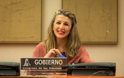 Díaz aposta per prorrogar l'opció de reduir la jornada laboral com a solució per als pares amb fills en quarantena