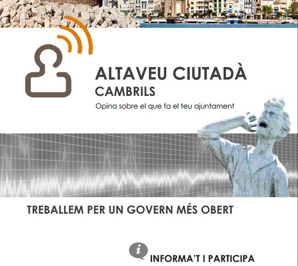 L'Ajuntament de Cambrils inicia les consultes de l'Altaveu Ciutadà per recollir l'opinió de la ciutadania