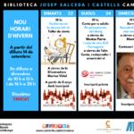 LaBibliotecade Cambrilsiniciael cursamb el cicle de la DO Tarragonai una xerrada sobre Benedetti