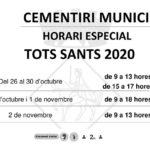 Horari especial i mesures de seguretat al cementiri municipal de Constantí per Tots Sants