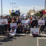 Protesta dels restaurants de Cambrils: 'Les nostres cuines no fabriquen Covid-19'