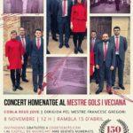 Concert homenatge al Mestre Gols i Veciana a la Canonja