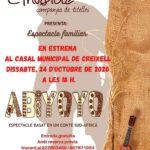 Espectacle familiar de titelles al Casal Municipal de Creixell el dissabte dia 24