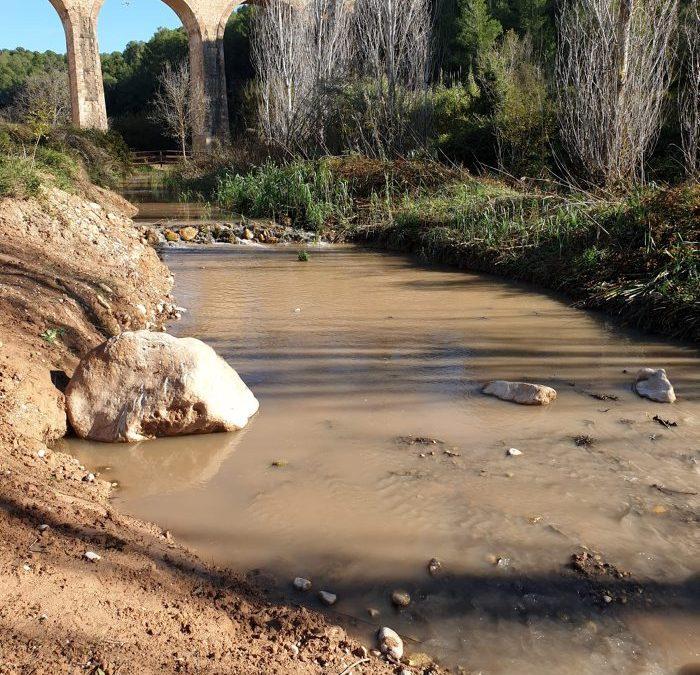 Crescuda controlada del cabal del tram final del Gaià per millorar l'estat ambiental del riu