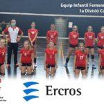 Ercros patrocina l'equip infantil femení del  Club de Voleibol Sant Pere i Sant Pau