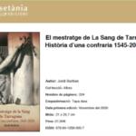 La Sang edita el llibre del 475è aniversari en coedició amb Cossetània
