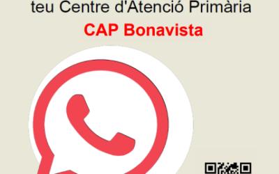 L'ICS posa en marxa un nou canal de whatsapp al CAP Bonavista