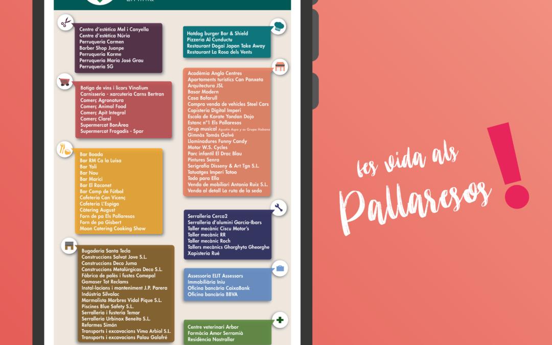L'Ajuntament dels Pallaresos edita una guia-directori de tots els comerços de la vila